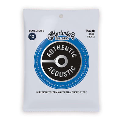 Martin Acoustic Strings MA240 - 80/20 Bronze - Bluegrass 12-16-25-35-48-56