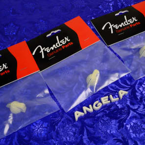 3 Genuine Fender Cream Chicken Head Knobs 0058164000 New Cream Phenolic Plastic