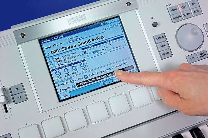 1.5 J Garantie Korg M3 Touch Screen Panel Digitale Bedienfront für LCD Display