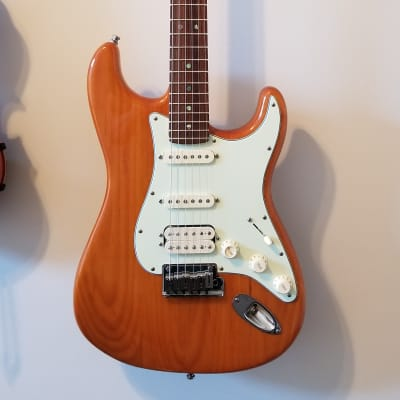 Fender American Deluxe Fat Stratocaster HSS 2004-2010 Transparent Amber for sale