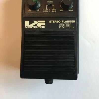 Vesta Fire SFL Stereo Analog Flanger Rare Vintage Guitar Effect Pedal MIJ Japan for sale