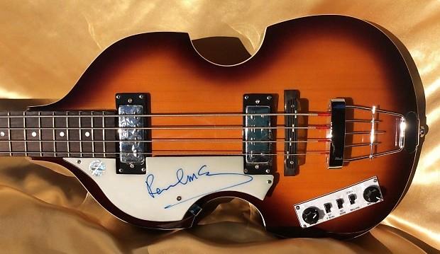 the beatles paul mccartney signed autographed hofner bass reverb. Black Bedroom Furniture Sets. Home Design Ideas