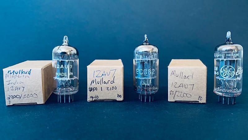 Mullard 12AU7 Matched Variety Pack of 3 Strong Gm Testing NOS Vacuum Tubes