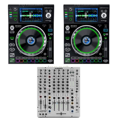"(2) Denon DJ SC5000M Prime DJ Media Player with Motorized Platter & 7"" Multi-Touch Display + Allen & Heath XONE:96 Professional 6-Channel Analog DJ Mixer"