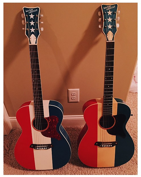 Harmony Buck Owens American F 70 60s Red White Blue Reverb