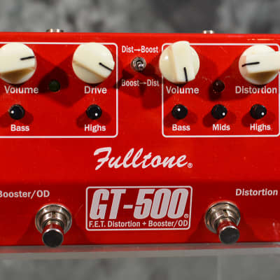 Fulltone GT-500 Overdrive Distortion Booster Dual Pedal RED edition w FAST Same Day Shipping