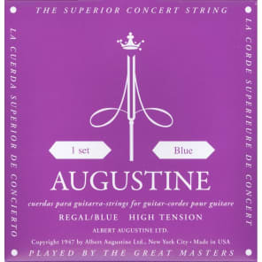 Augustine Regal Blue High Tension Classical Guitar Strings