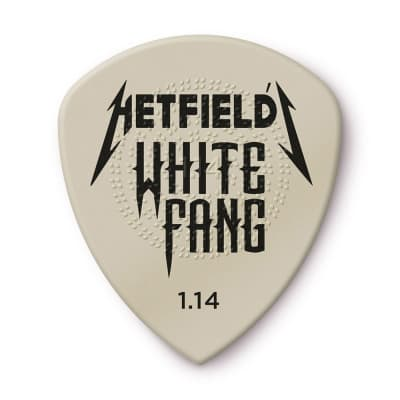 Dunlop PH122P114 James Hetfield White Fang Custom Flow 1.14mm Guitar Picks (6-Pack)