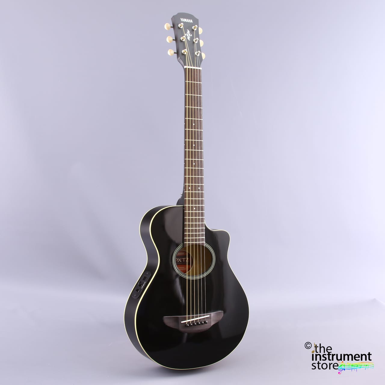 Yamaha Apxt2bl Acoustic Electric Guitar Black 3 4 Size