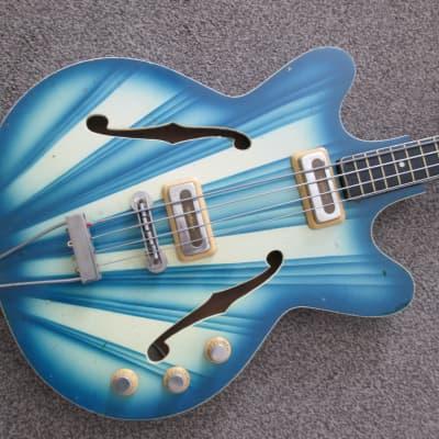 Orfeus Hebros bass c.1977 blue/cream for sale