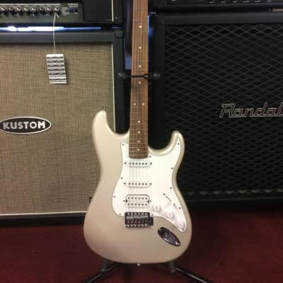 Giannini G101-SV/WH Silver  Strat Style Electric Guitar NICE! [ProfRev] for sale