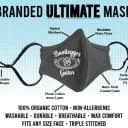 BootLegger Guitar Face Mask 2020 Black Adjustable
