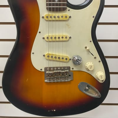 Pignose Electric Guitar Strat Style Relic Tobacco Burst for sale