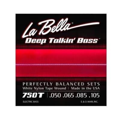 La Bella 750T Deep Talkin' White Nylon L 50-105