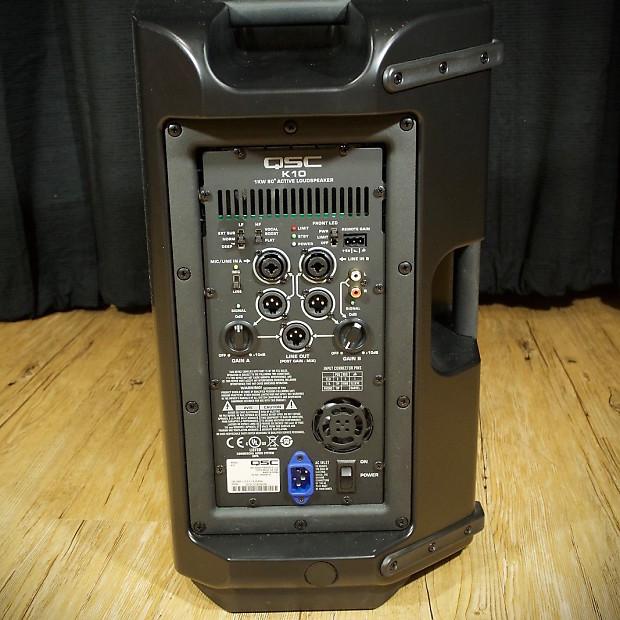 qsc k10 1000 watt active 2 way pa speaker reverb