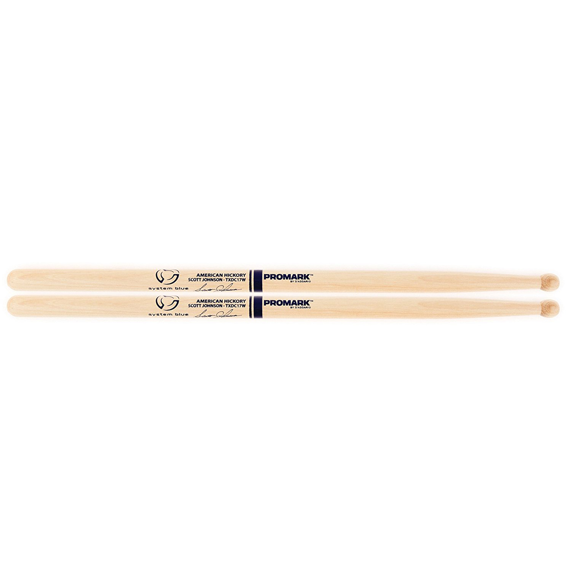 Pro Mark TXDC17IW American Hickory Scott Johnson Marching Drumstick Blue
