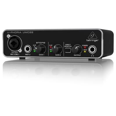 Behringer U-Phoria UMC22 2x2 USB Audio Interface with MIDAS Preamp