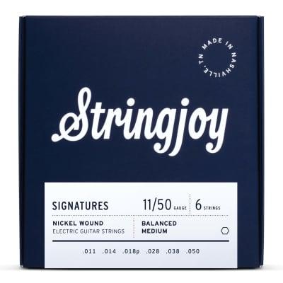 Stringjoy Balanced Medium Gauge (11-50) Nickel Wound Electric Guitar Strings
