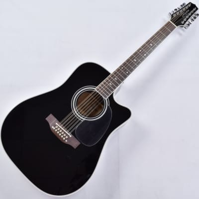 Takamine EF381SC 12 String Acoustic Guitar in Gloss Black B-Stock for sale