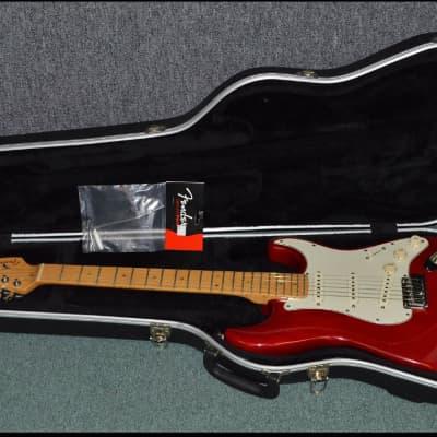 Fender  American Deluxe Stratocaster 1998 Translucent Crimson Red for sale