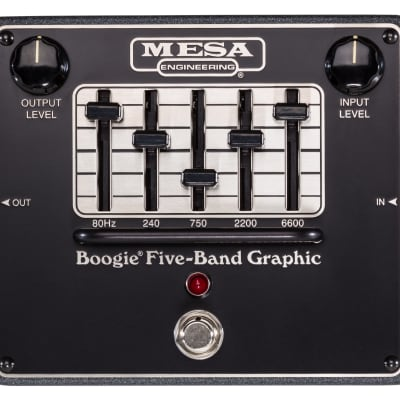 Mesa Boogie 5 Band Graphic EQ Pedal Black for sale