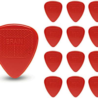 Snarling Dogs Brain Guitar Picks Nylon  .73mm 13 picks Red