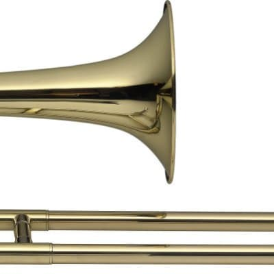 Stagg Bb Slide Trumpet Ml-Bore Body in Brass with Soft Case - LV-TR4905
