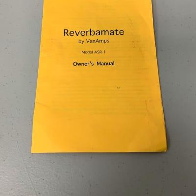 VanAmps Reverbamate ASR-1 Owners Manual Original USA