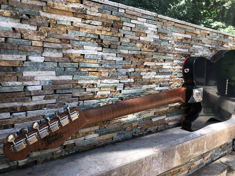 Mario Martin Thinline T  AAAA Roasted flamed maple  BRAZILIAN slab board KILLER Relic Tele