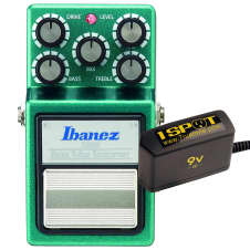 Ibanez TS9B Bass Tube Screamer Overdrive and Truetone 1 Spot Space Saving 9v Adapter
