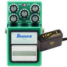 Ibanez TS9B Bass Tube Screamer Overdrive and Truetone 1 Spot Space Saving 9v Adapter
