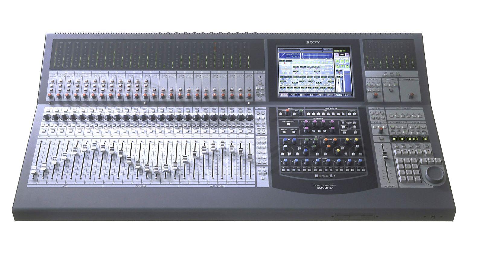 sony dmx r100 48 channel digital audio mixer reverb. Black Bedroom Furniture Sets. Home Design Ideas