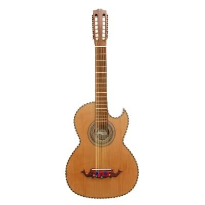 Paracho Elite Hidalgo Thin Body 12-String Bajo Sexto Guitar, Natural