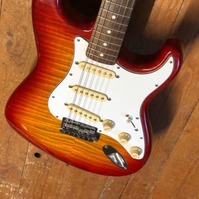 Fender Stratocaster 62 reissue MIJ 1994 Sienna burst foto flame for sale