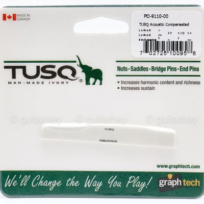 """NEW Graph Tech PQ-9110-00 TUSQ Acoustic Compensated Martin Style 2.9"""" Length"""