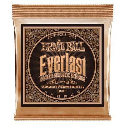 Ernie Ball P02548 Everlast Phos Bronze Acoustic Guitar Strings, .011 - .052