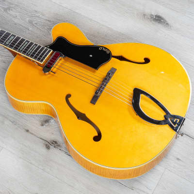 Guild A150 Savoy Hollowbody Archtop Electric Guitar Indian RW Board Blonde +Case