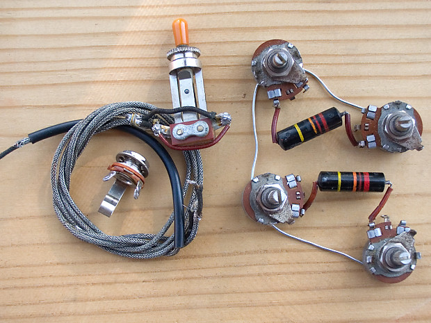 Vintage 1959 Gibson Les Paul Wiring Harness Bumblebee Caps