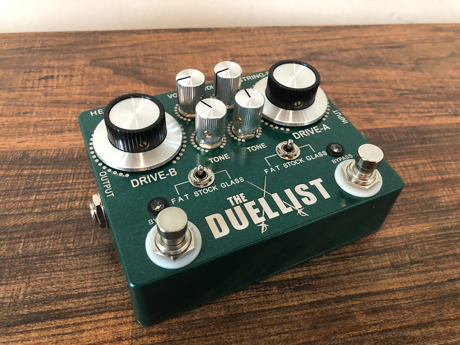 King Tone Guitar Limited Edition of 100 made T.S.  GREEN The Duellist Dual Overdrive by Jesse Davey