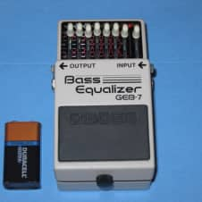 lightly used BOSS GEB-7 BASS EQUALIZER + battery, No box / No paperwork