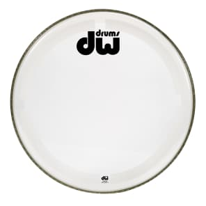 DW DRDHCC22K Coated/Clear Bass Drum Head - 22""