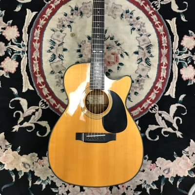 Sigma GCS-4 1988-1993  Gen III Korean acoustic guitar with EQ and hard shell case for sale