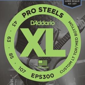 D'Addario ProSteel EPS300 Light Top Medium Bottom Super Bright Bass Strings