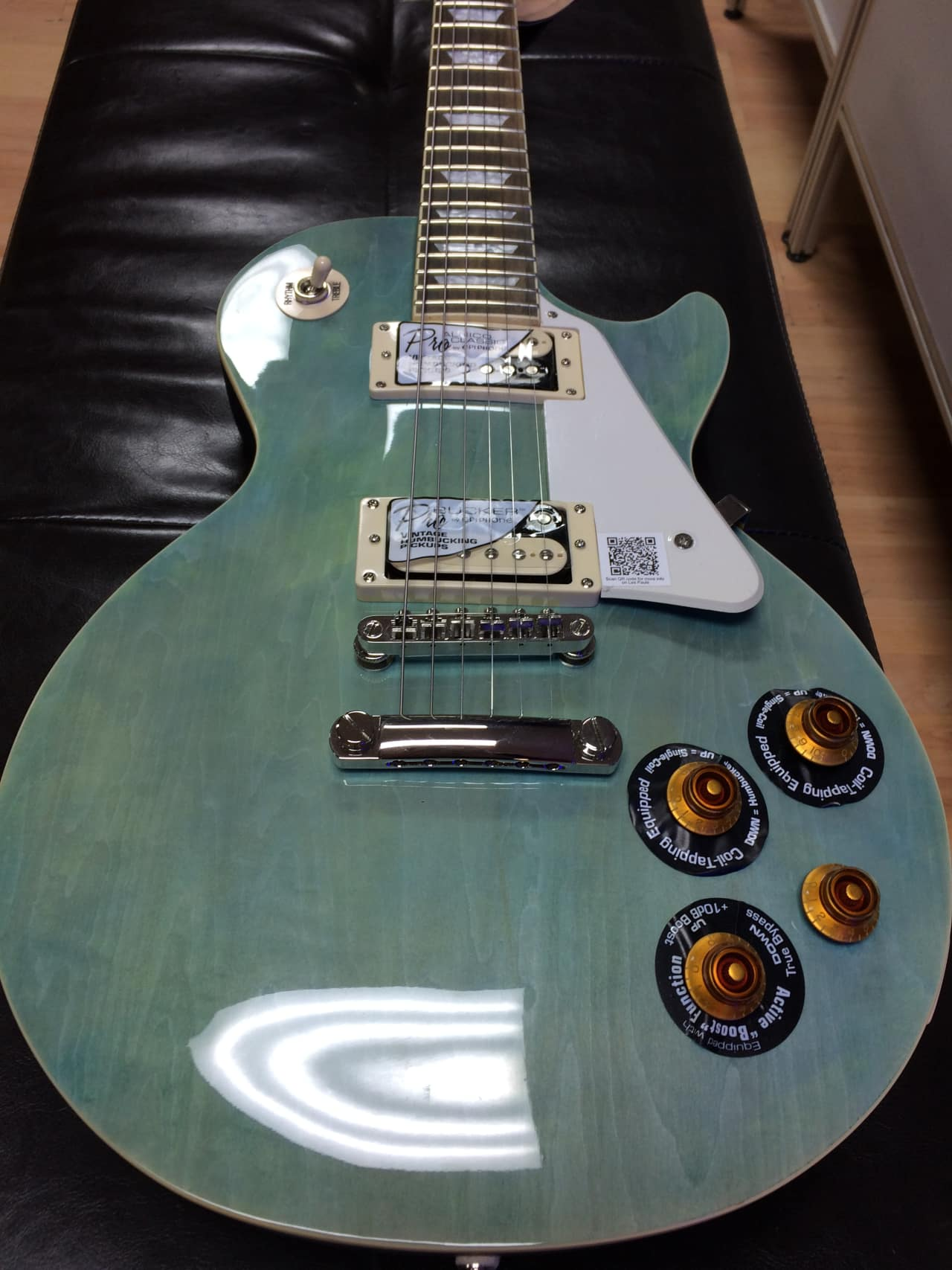 epiphone les paul traditional pro ii 2016 ocean blue reverb. Black Bedroom Furniture Sets. Home Design Ideas