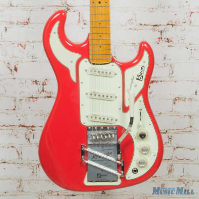 Burns London Marvin The Legend 64 Reissue Electric Guitar Fiesta Red w/OHSC (USED) for sale