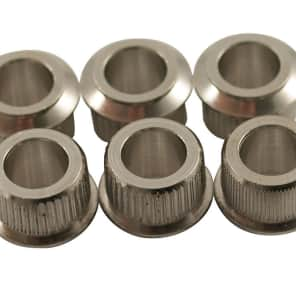 Kluson Fender Nickel adapter bushings convert 10.5mm to 8mm hole for vintage tuners wide flange