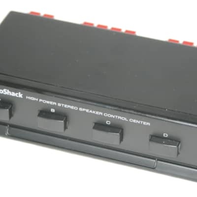 Radio Shack 4 Pair High Power Stereo Speaker Control Center 4-Way Switch / Splitter 40-244