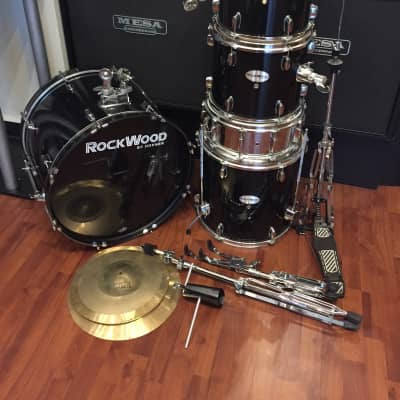 Rockwood 5 Piece Drum Kit w/ Cymbals & Hardware - Black