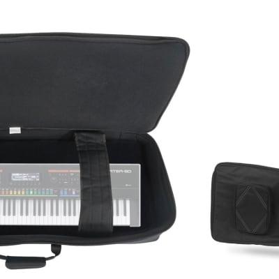 Rockville 76 Key Padded Durable Keyboard Gig Bag Case For ROLAND JUPITER-50