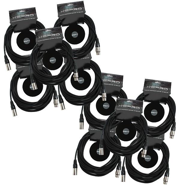 Xspro Xsm 25 10 Pack 25 Ft Foot Shielded Audio Xlr Mic